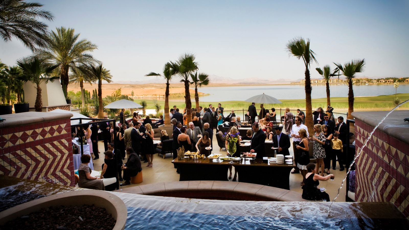 Lake Las Vegas Wedding Venues - Lotus Court Recption